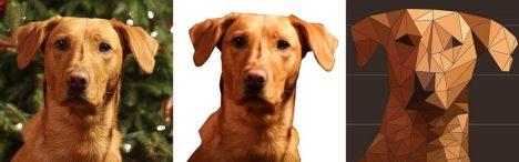 DIY: Holz-Mosaik mit Hunde-Gesicht