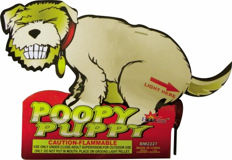 Poopy Puppy Feuerwerk