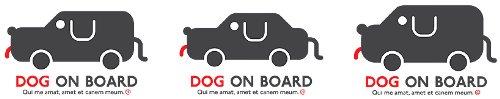 hunde auto aufkleber & sticker