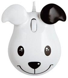 Maus mit Hunde Gesicht.
