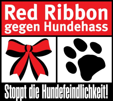 Red Ribbon Aktion gegen Hundehass