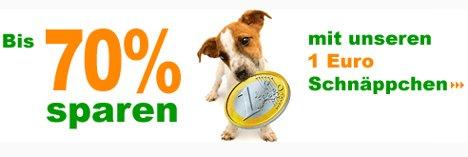 Günstiger Shoppen: Zooplus 1 Euro Schnäppchen Aktion