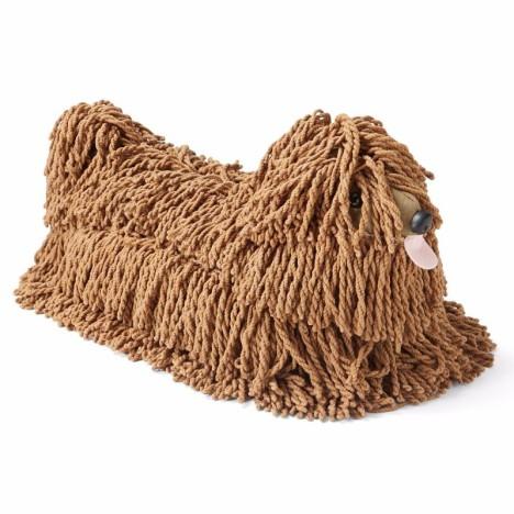 Brauner Hunde Wischmopp