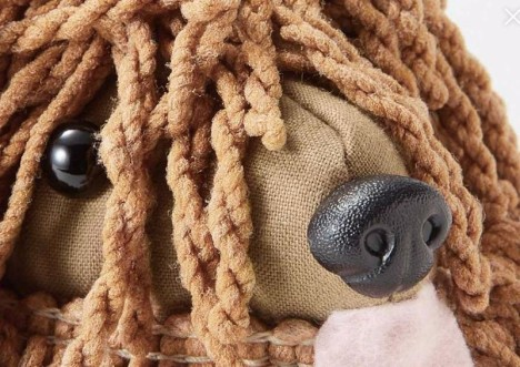 Brauner Hunde Wischmopp, Detail