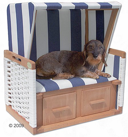Strandkorb für den Hund