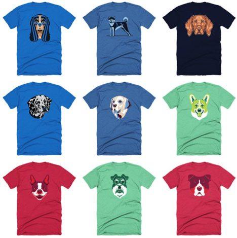 T-Shirts mit Hunde-Motiven von Golden Doodle